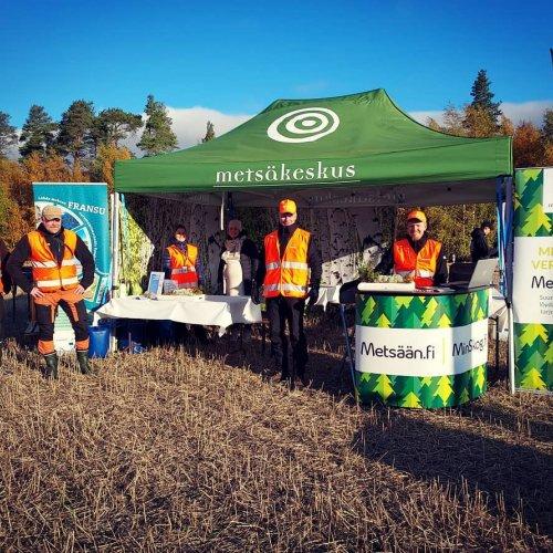 #Tulemetsään! Ylistarossa tutustutaan tänään energiapuun korjuuseen ja suometsien erilaisiin käsittelytapoihin. Aurinko ...